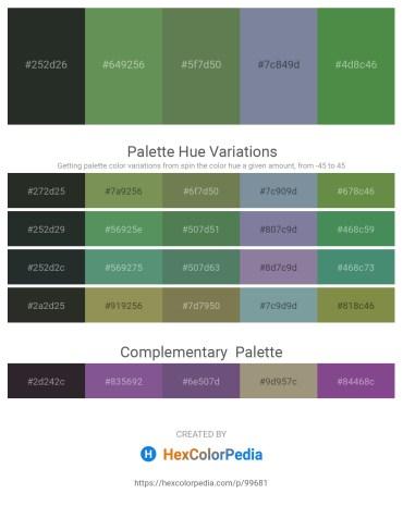 Palette image download - Dark Slate Gray – Dark Olive Green – Dark Olive Green – Light Slate Gray – Dark Olive Green