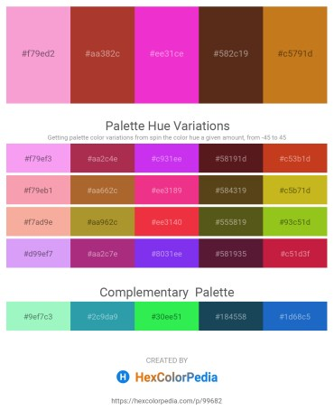 Palette image download - Violet – Brown – Deep Pink – Saddle Brown – Chocolate