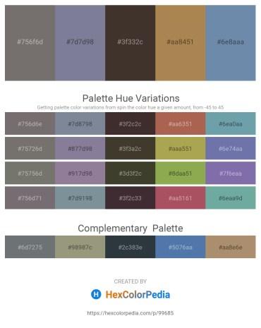 Palette image download - Dim Gray – Light Slate Gray – Slate Gray – Dark Khaki – Cadet Blue