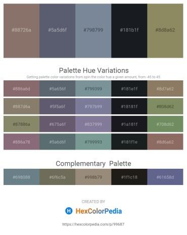 Palette image download - Gray – Slate Gray – Light Slate Gray – Dark Slate Gray – Gray