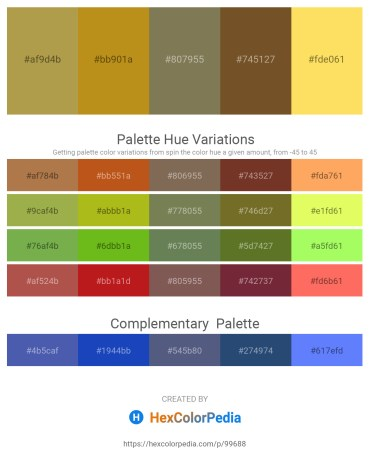 Palette image download - Dark Khaki – Goldenrod – Dim Gray – Sienna – Peru