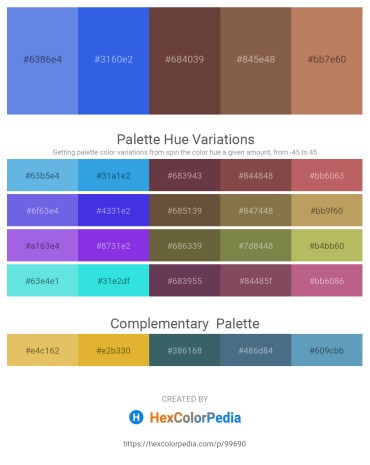 Palette image download - Cornflower Blue – Royal Blue – Black – Dim Gray – Indian Red