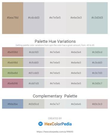 Palette image download - Rosy Brown – Light Steel Blue – Gainsboro – Gainsboro – Light Steel Blue