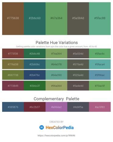 Palette image download - Dim Gray – Sea Green – Dark Sea Green – Dim Gray – Cadet Blue