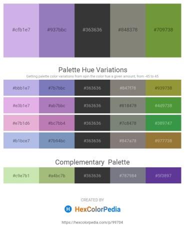 Palette image download - Light Steel Blue – Slate Blue – Dim Gray – Gray – Olive Drab