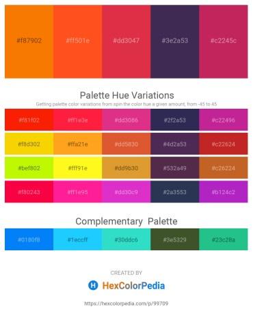 Palette image download - Dark Orange – Orange Red – Crimson – Dark Slate Blue – Medium Violet Red