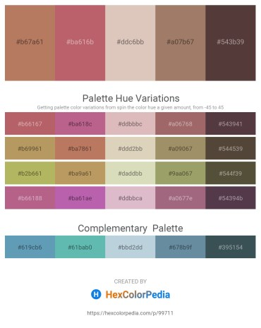 Palette image download - Indian Red – Indian Red – Tan – Rosy Brown – Dim Gray