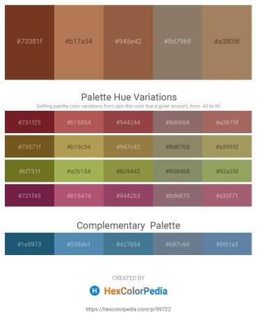 Palette image download - Sienna – Dark Olive Green – Sienna – Gray – Rosy Brown