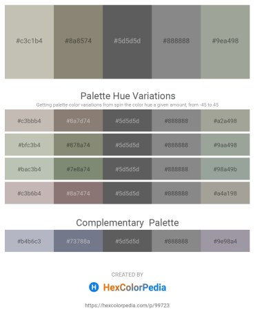 Palette image download - Silver – Gray – Dim Gray – Gray – Dark Sea Green