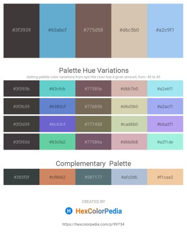 Palette image download - Dim Gray – Medium Turquoise – Dim Gray – Tan – Sky Blue