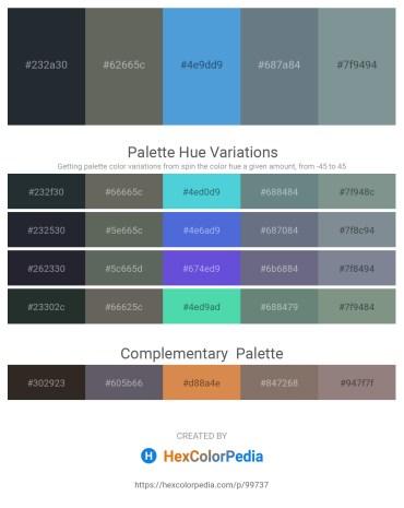 Palette image download - Dark Slate Gray – Dim Gray – Goldenrod – Slate Gray – Light Slate Gray