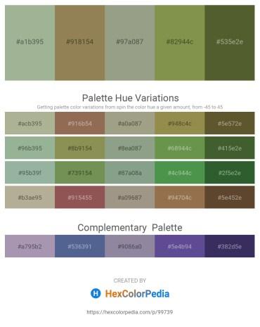Palette image download - Dark Sea Green – Dark Khaki – Dark Sea Green – Dark Olive Green – Dark Olive Green