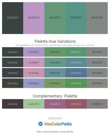 Palette image download - Dark Slate Gray – Dim Gray – Cadet Blue – Cadet Blue – Slate Gray