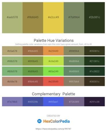 Palette image download - Dark Khaki – Dark Khaki – Goldenrod – Gray – Dark Olive Green
