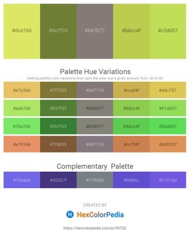 Palette image download - Khaki – Dark Olive Green – Gray – Yellow Green – Yellow Green