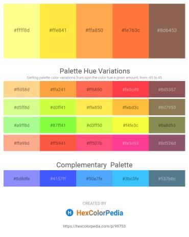 Palette image download - Navajo White – Gold – Coral – Tomato – Dim Gray