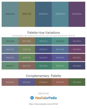 Palette image download - Slate Gray – Gray – Dark Slate Blue – Cadet Blue – Dark Slate Blue