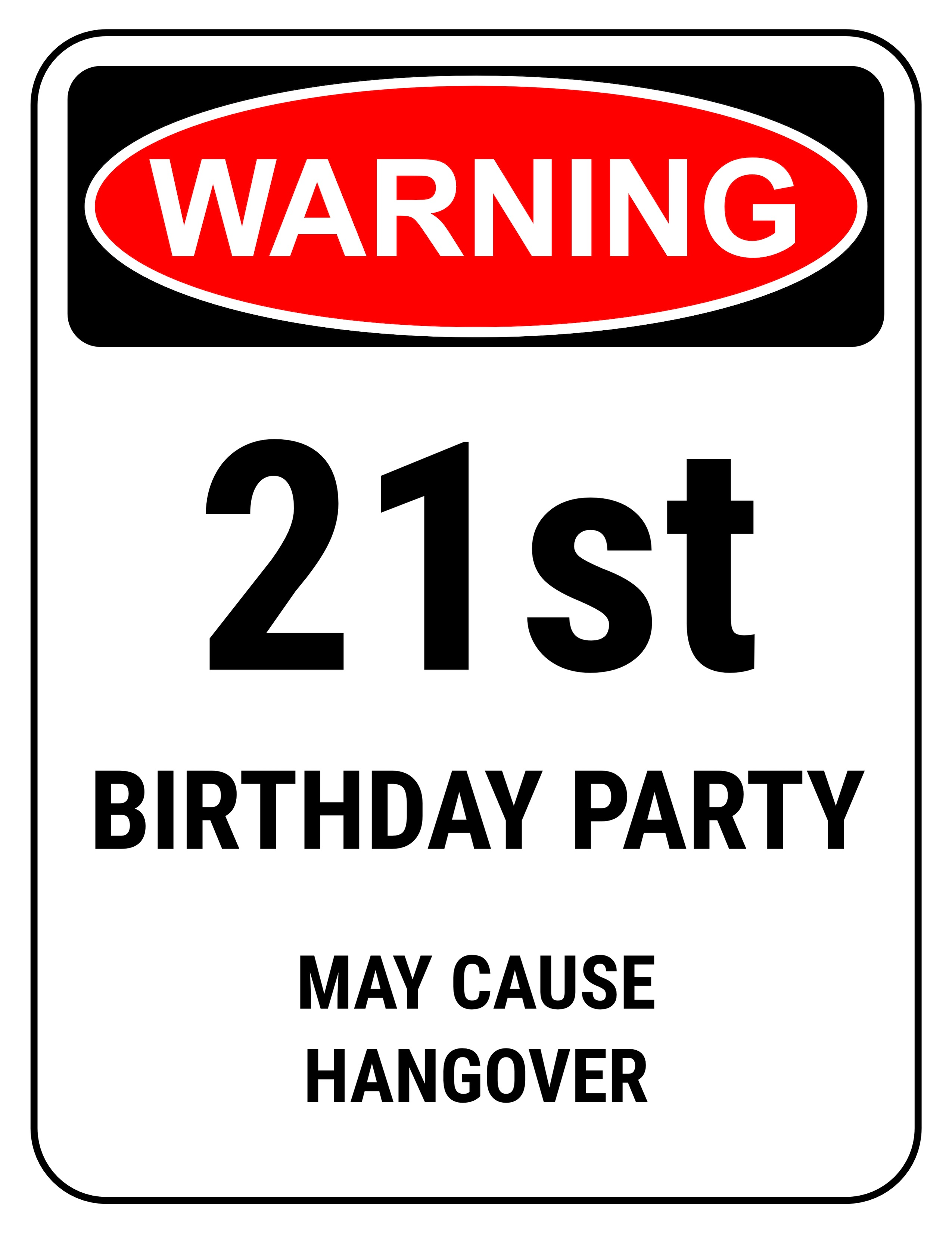 Printable 60th Birthday Signs