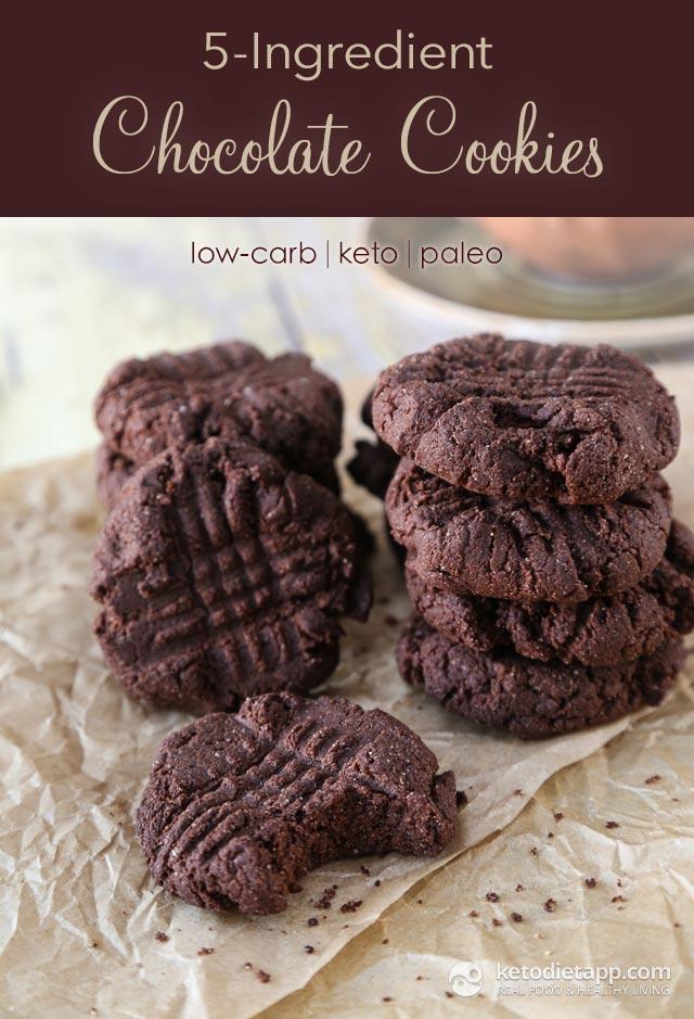 5 Ingredient Keto Chocolate Cookies