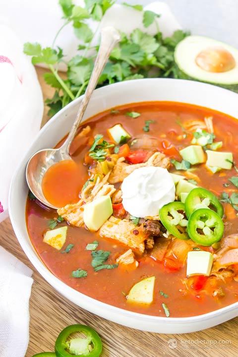 Keto Instant Pot Chicken Enchilada Soup   KetoDiet Blog