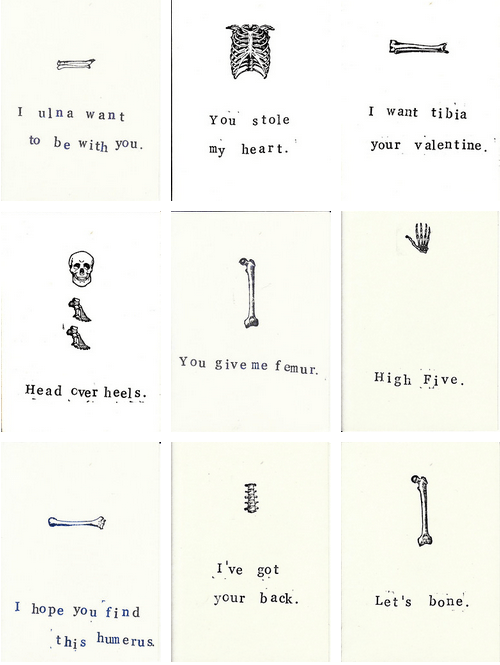 Anatomy Valentine Cards By Carrie Martin Project