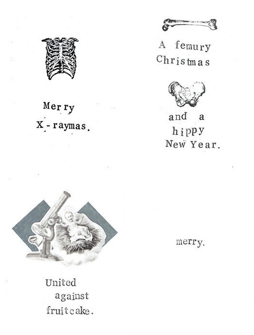 Anatomy Amp Science Christmas Cards By Carrie Martin