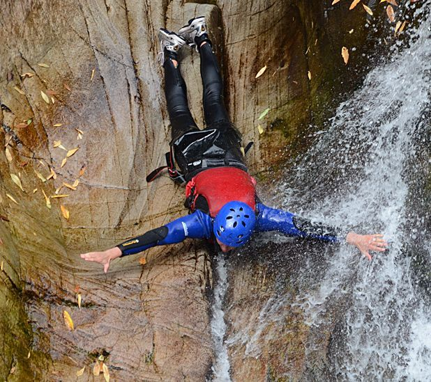 Canyoning: the best bits of gorge walking, rock climbing, wild swimming and cliff jumping combined