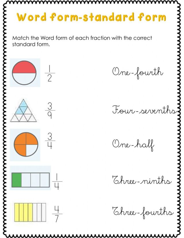 Fractions activity for Second grade