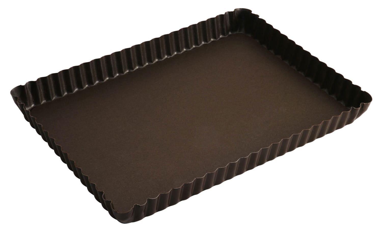 moule a tarte rectangulaire fond fixe 28 x 21 cm gobel