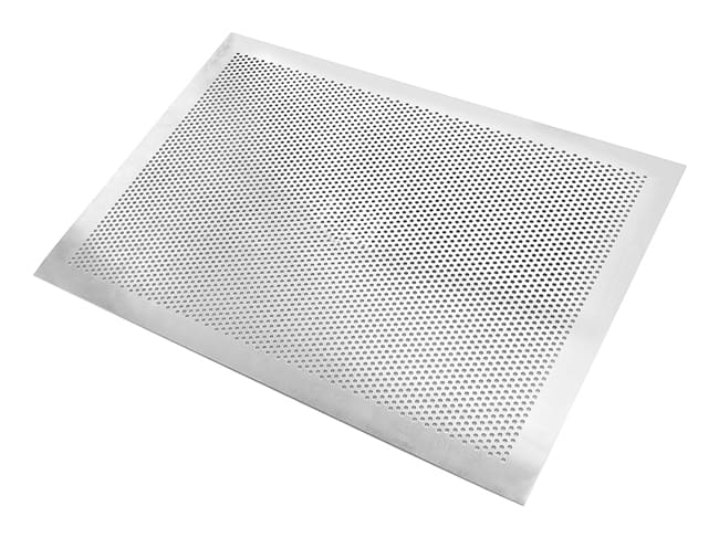plaque perforee en aluminium bord plat 40 x 30 cm mallard ferriere