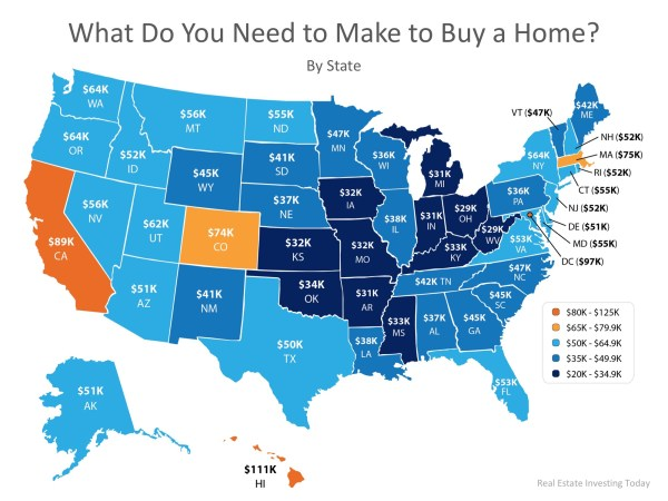 How Much Do You Need to Make to Buy a Home in Your State? | MyKCM
