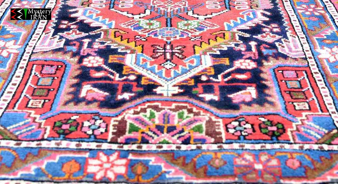Traditional Hamadan Wool Carpet Authentic Rug