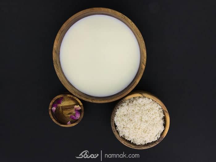 مواد لازم شیر برنج
