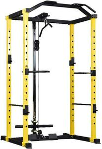 commercial power rack with lat pulley