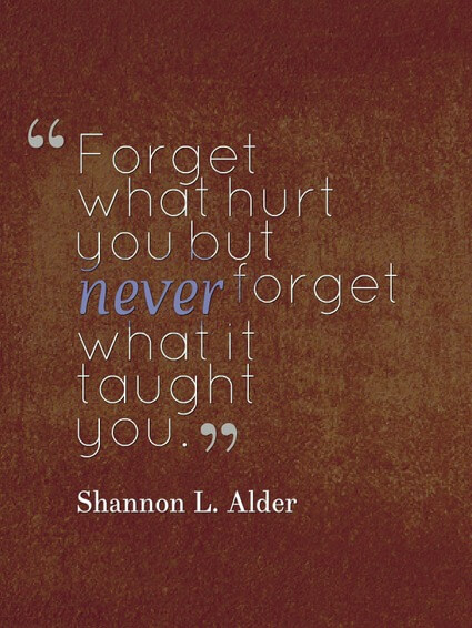shannon l alder never forget what failure taught you - Letting Go Quotes