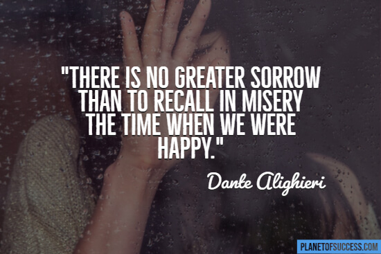 Misery quote about sadness