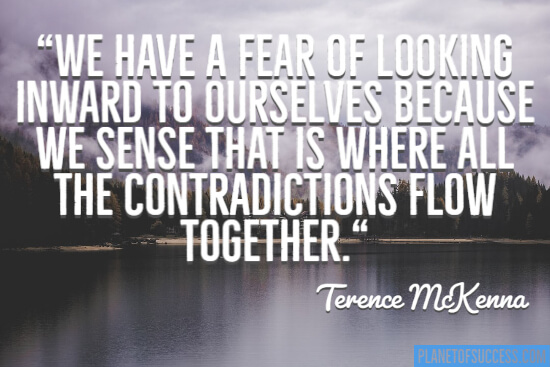 A fear of looking inward quote