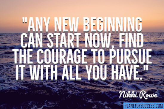 Any new beginning can start now
