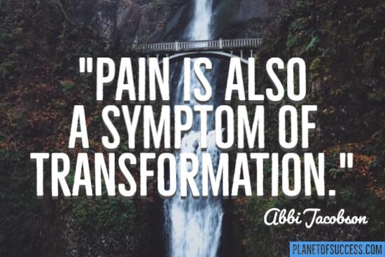 A symptom of transformation