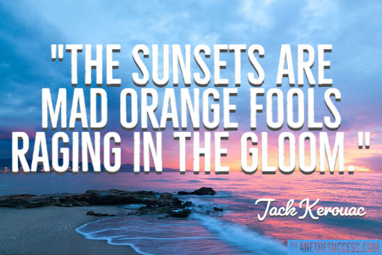 Quote about sunsets