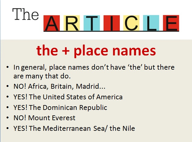 art and place names