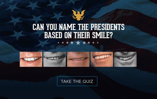 president smile