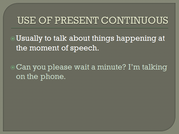 present continuous 7