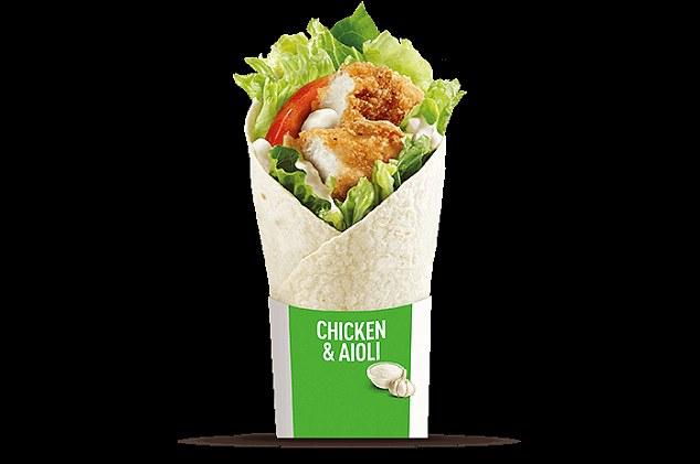 9 chicken wrap