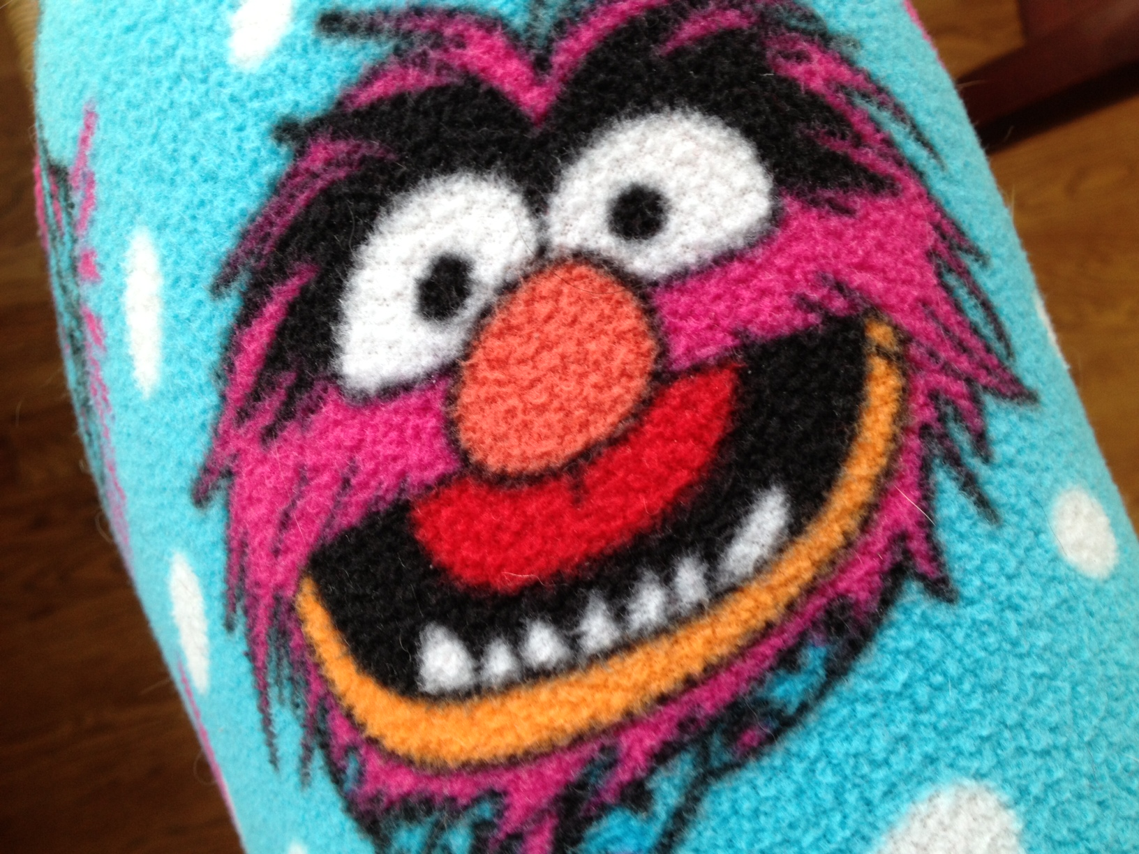 She sometimes wears these (Jim Henson-inspired) pajamas outside - in broad daylight - to walk the dogs.