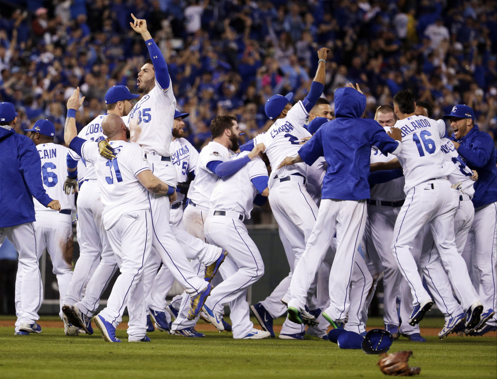 Image result for 2015 alcs game royals win pennant