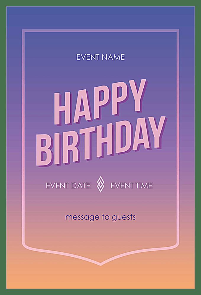 color blend invitation card design template