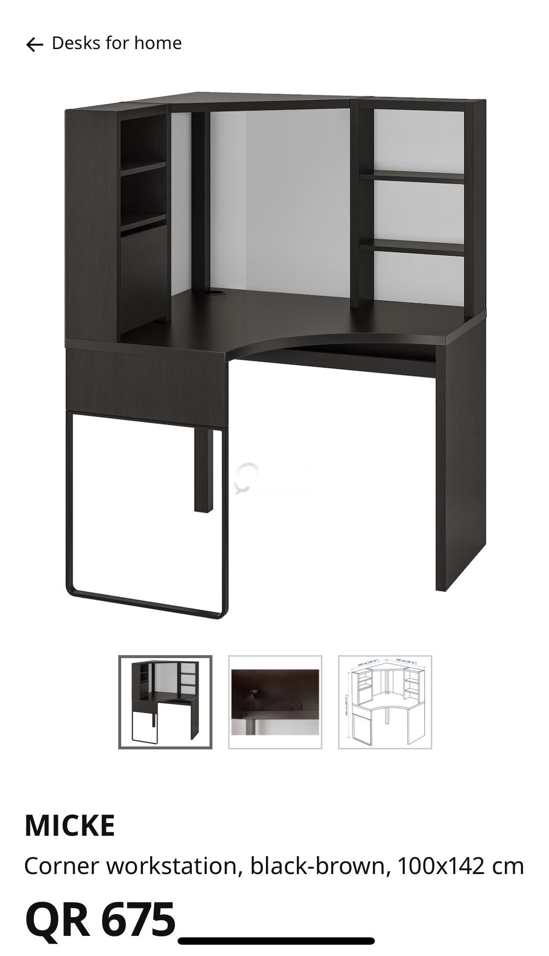 Ikea Corner Desk Working Station Qatar Living