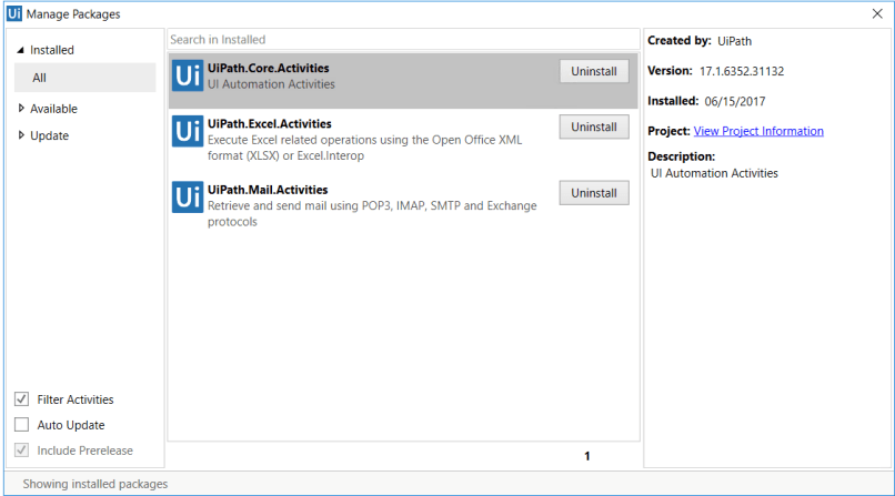 Get Mail Activities In Uipath
