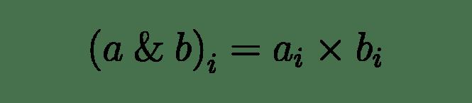 La formule arithmétique de l'opérateur binaire AND